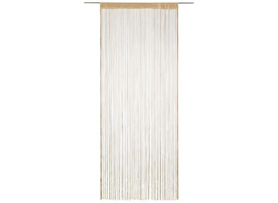 Nitkový Záves Franz - béžová, textil (90/245cm) - Modern Living