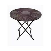 Záhradný Stôl Nicolas  Ø 70 Cm - hnedá/čierna, Moderný, umelá hmota/kov (70/72cm) - MÖMAX modern living