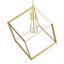 Závesná Lampa Squere 30/30/45cm, 60 Watt - bronzová, Romantický / Vidiecky, kov (30/30/45cm) - Modern Living