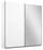 Schwebetürenschrank Belluno 181 cm Weiß/ Spiegel - Weiß, MODERN, Holzwerkstoff (181/210/62cm)