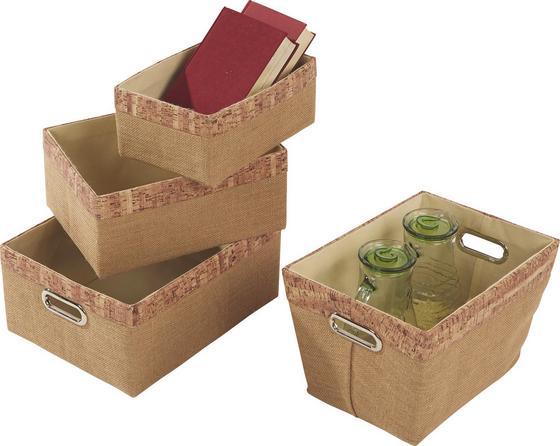 Kosár Corgy - natúr színek, konvencionális, műanyag/karton (35/27/16cm)