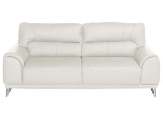 Dreisitzer-sofa Frisco - Chromfarben/Weiß, MODERN, Textil (210/92/96cm)