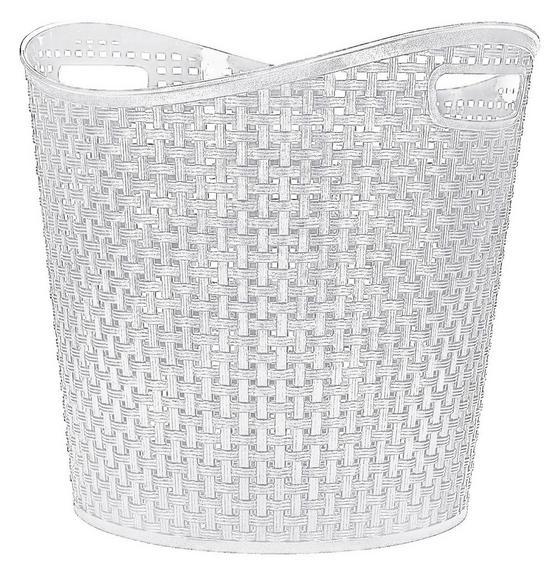 Universalkorb Rattan 27 Liter - Weiß, KONVENTIONELL, Kunststoff (38,5/37cm) - Plast 1