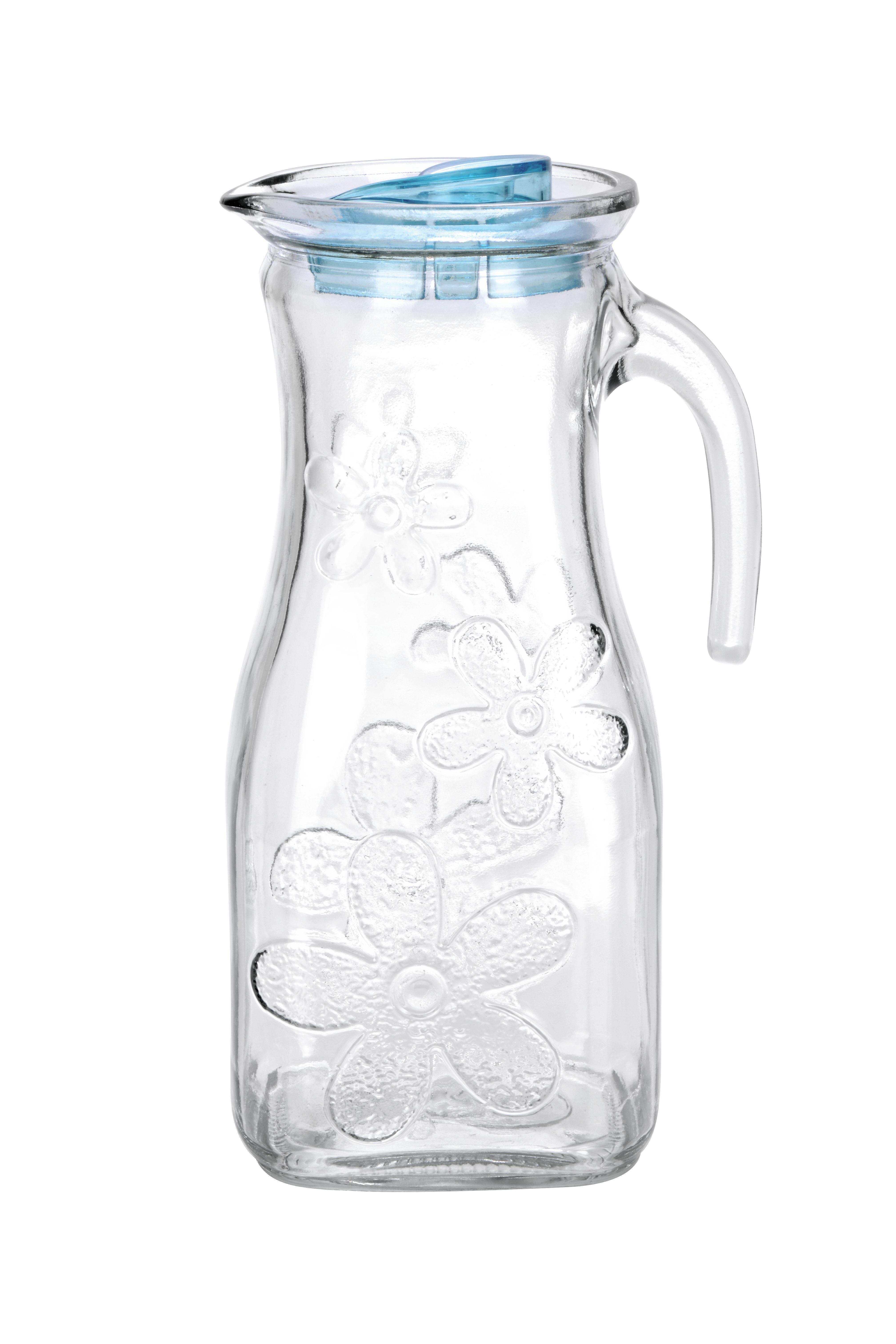 Üvegkancsó Elisa - kék/zöld, konvencionális, műanyag/üveg (1l)