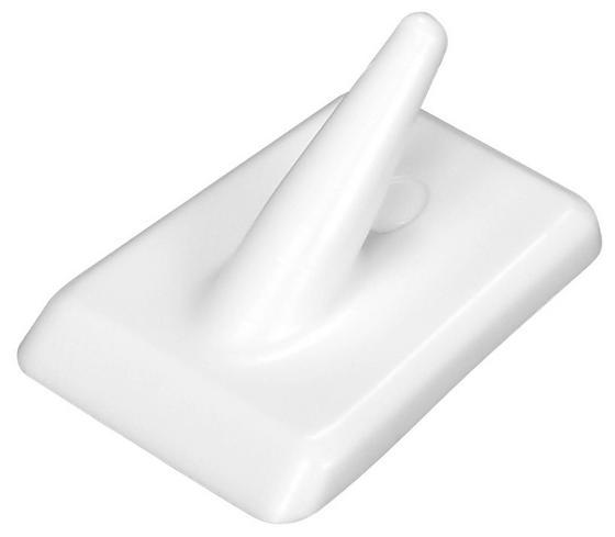 Klebehaken 4er Packung - Weiß, KONVENTIONELL, Kunststoff (3,5cm) - Homeware