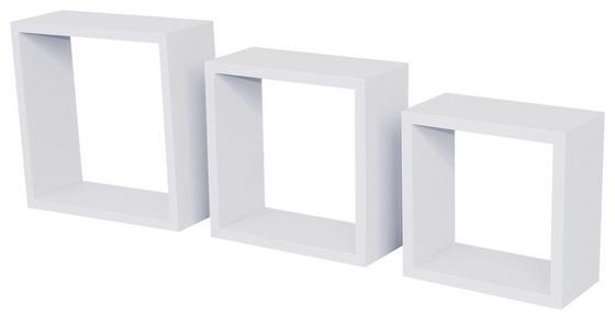 Falipolc Simple - Fehér, modern, Műanyag (30/30/12cm)