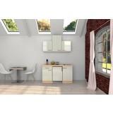 Küchenblock Abaco B: 150,5 cm Perlmutt - Perlmutt/Weiß, MODERN, Holzwerkstoff (150,5/60cm) - FlexWell.ai
