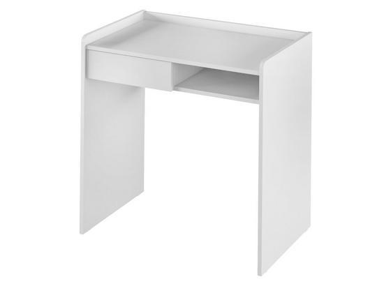Stůl Bady Bílá - bílá, Moderní, kompozitní dřevo (80/80/50cm)