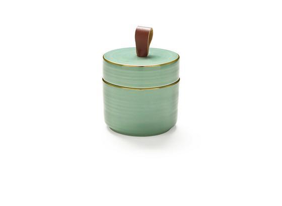 Ozdobná Dóza Irina - zlatá/zelená, keramika (10,5/10,5/10,5cm) - Mömax modern living