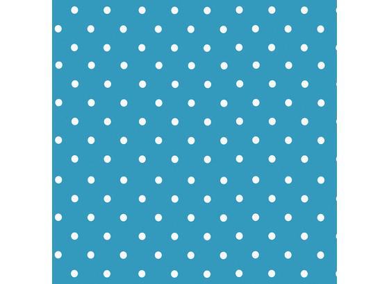 Klebefolie Basic Tupfen Blau - Blau/Weiß, Kunststoff (45/150cm)