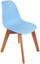 Kinderstuhl Bambino Hellblau - Birkefarben/Hellblau, MODERN, Holz/Kunststoff (30,5/57/36cm) - Ombra