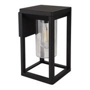 Außenwandleuchte Candela H: 27 cm Schwarz - Klar/Schwarz, Basics, Kunststoff/Metall (15/27cm)