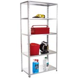 Steckregal Shelf 100/195/40 Grau - Grau, KONVENTIONELL, Metall (100/195/40cm)