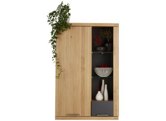 Závesný Diel Bianco - farby dubu/grafitová, Konvenčný, drevo/kompozitné drevo (80/124/37cm) - Zandiara