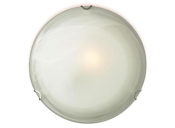 Deckenleuchte Gipsy - Weiß, KONVENTIONELL, Glas/Metall (30/7cm) - Ombra