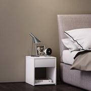 Beistelltisch Sledo Mini B: 35 cm Weiß - Weiß, KONVENTIONELL, Holzwerkstoff (35/40/35cm) - Livetastic