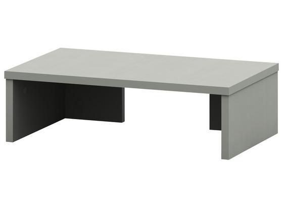 Nástavec Na Psací Stůl Moni - barvy hliníku, Moderní, kompozitní dřevo (50/14,5/30cm)