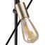 Stojací Lampa Darcie - černá/barvy zlata, Moderní, kov (54/150cm) - Modern Living
