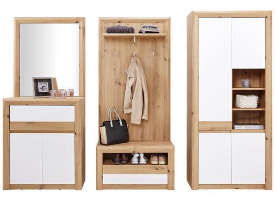 Odporúčaná Kombinácia Kashmir New 5 - farby dubu/biela, Moderný, kompozitné drevo (252/192/41cm) - James Wood