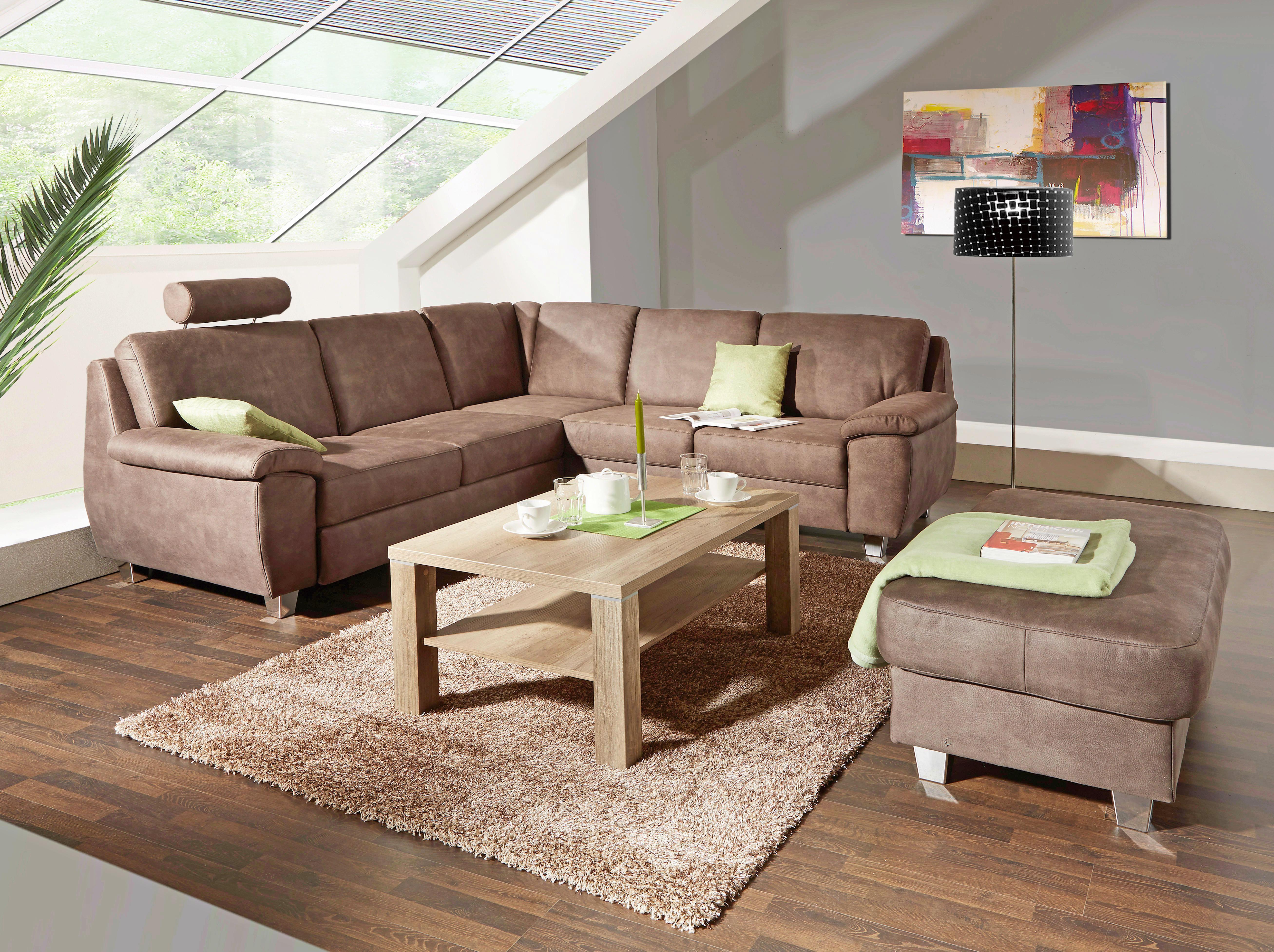 Ülőke Moskau - barna/szürke, modern, textil (128/48/65cm)