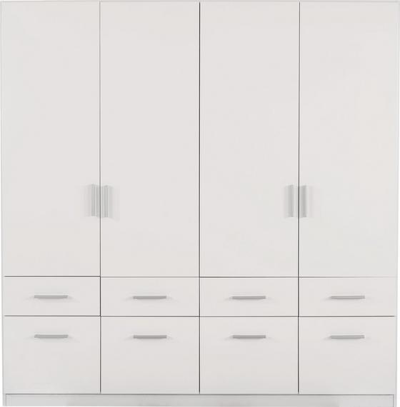 Kleiderschrank Celle, 4-türig - Weiß, MODERN, Holz (181/197/54cm)