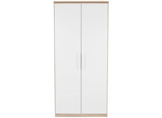 Skříň Šatní Wien - bílá/barvy dubu, Konvenční, kompozitní dřevo (91/212/56cm)