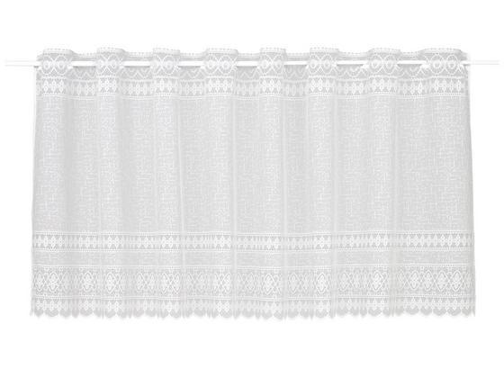 Krátka Záclona Theresa - biela, textil (145/50cm) - Modern Living