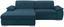 Wohnlandschaft L-form Verona 180x265 cm - Türkis/Chromfarben, LIFESTYLE, Holz/Kunststoff (180/265cm) - Ombra