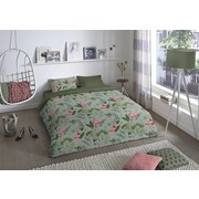 Bettwäsche Mila - Multicolor/Grün, Basics, Textil