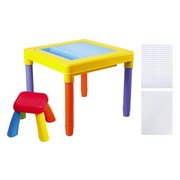 Kindersitzgruppe Bausteine 2-in-1 - Multicolor, MODERN, Kunststoff