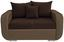 Zweisitzer-Sofa Faro B: 150cm - Chromfarben/Hellbraun, MODERN, Holz/Textil (150/90/92cm) - Ombra
