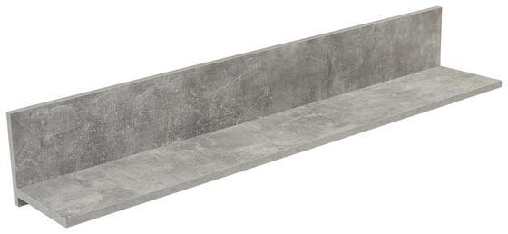 Nástěnná Police Malta - šedá, Moderní, kompozitní dřevo (128/18/20cm)