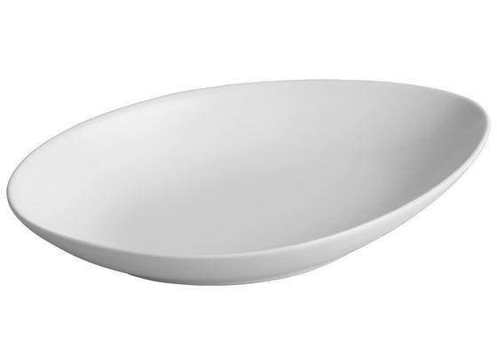 Servírovací Tanier Nele - biela, Moderný, keramika (25,3/16/3,8cm) - Premium Living