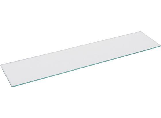 Nástenná Polica Galileo     -sb- - Štýlový, sklo (120/0,8/26cm) - Homezone