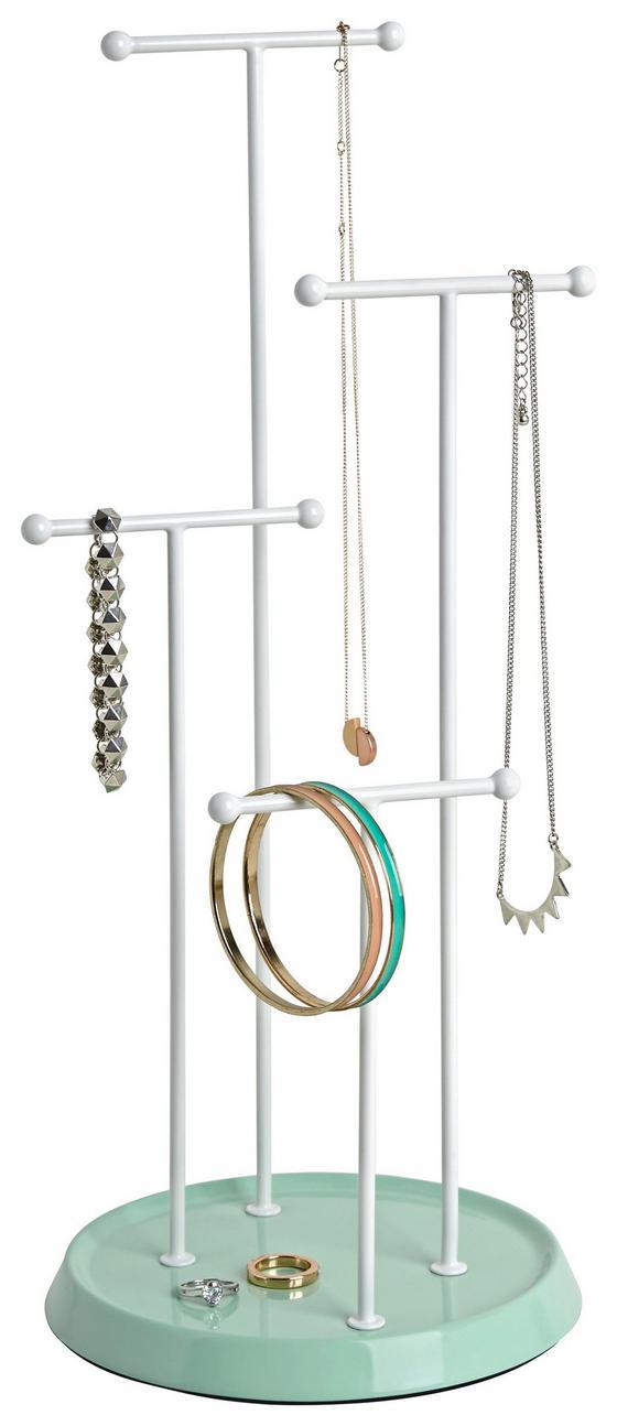 Držák Na Šperky Lisa - bílá/mátově zelená, Moderní, kov (17,5/41cm) - Mömax modern living