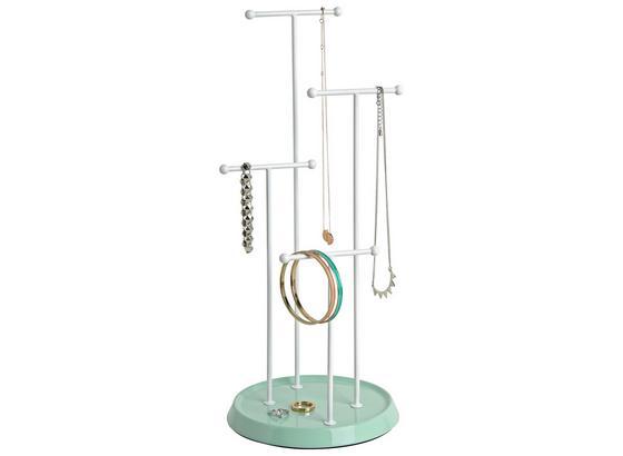 Stojan Na Šperky Lisa - biela/mätovozelená, Moderný, kov (17,5/41cm) - Mömax modern living