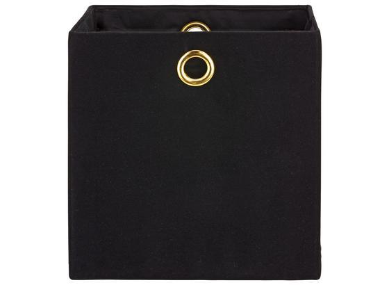Skládací Krabice Gina - černá, Trend, textil (33/33/33cm) - Premium Living