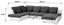 Sarokgarnitúra Multi - Krém/Szürke, modern, Textil (228/345/184cm)