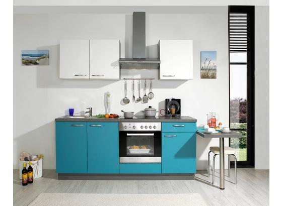 Küchenblock Win 200 cm Türkis/Weiß - Türkis/Weiß, MODERN, Kunststoff (200cm) - Express