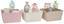Aufbewahrungskörbchen Gerta - Beige/Rosa, KONVENTIONELL, Kunststoff (25/25/14cm) - Ombra