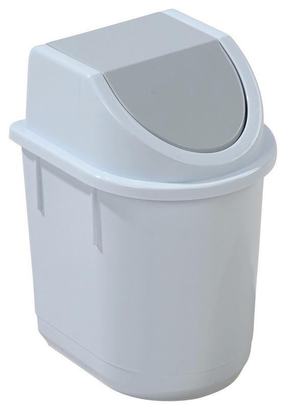 Tischabfalleimer Leo - Rosa/Weiß, Kunststoff (13,2/11,6/14cm) - Homezone