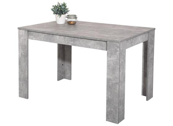 Jedálenský Stôl Doris - sivá, Moderný, kompozitné drevo (120/76/80cm)