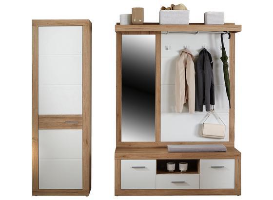 Garderobenkombination Malta San Remo 4 - Eichefarben/Weiß, MODERN, Holzwerkstoff (210/197/36cm)