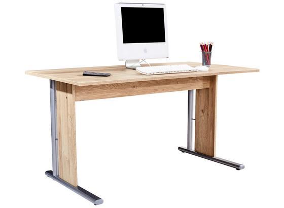 Psací Stůl Mindi - barvy dubu, Moderní, kov/kompozitní dřevo (150/72/70cm)