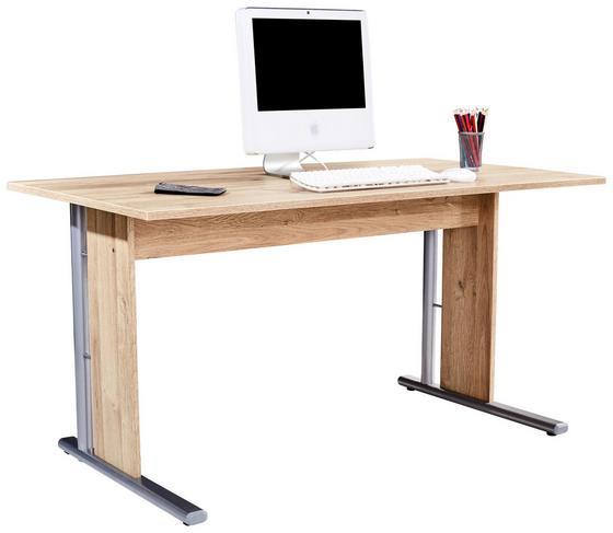 Schreibtisch Mindi - Eichefarben, MODERN, Holzwerkstoff/Kunststoff (150/72/70cm)