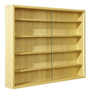 Hängevitrine Acquario B: 80cm mit Glas-Schiebetüren - Buchefarben, Basics, Glas/Holzwerkstoff (80/60/9,5cm) - MID.YOU