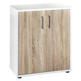 Aktenschrank Serie 200 B.65,1cm Weiß/ Eiche - Weiß/Sonoma Eiche, Basics, Holzwerkstoff (65,1/77,3/34,5cm) - MID.YOU