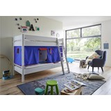 Spielvorhang 3-teilig Blau/ Rot - Blau/Rot, Design, Textil