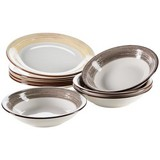 Tafelservice 8-Tlg Tafelservice Duole - Beige/Braun, Basics, Keramik (27/31/32cm)