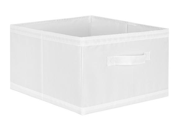 Uskladňovací Box Kläck -sb- - biela, textil (31/20/33,5cm) - Mömax modern living